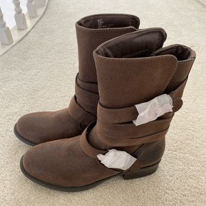 Brown Rampage Moto Boots Size 7.5